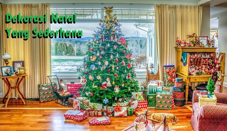 Dekorasi Natal Yang Sederhana